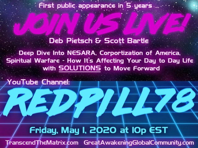 RedPill78 Youtube show May 1st 2020