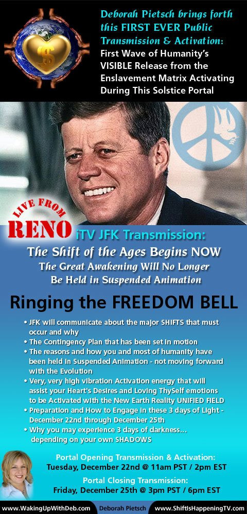 JFK Ringing The Freedom Bell - Reno - Deborah Pietsch Dec 22 2015