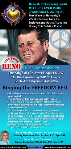 JFK Ringing The Freedom Bell - Reno - Deborah Pietsch Dec 22 2015