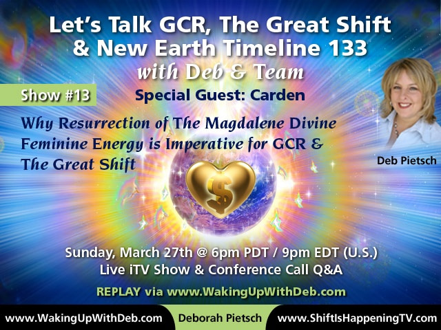 GCR : RV Activation Conference Call #13 Mar 27 2016