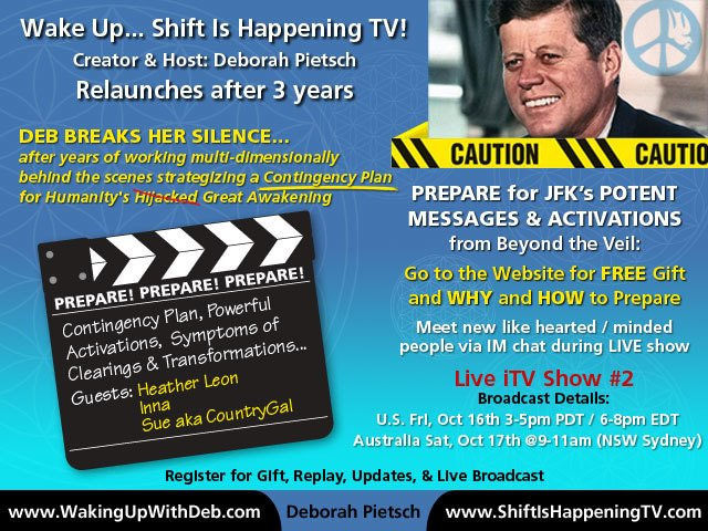 JFK - Prepare for JFK's potent mesages - Deborah Pietsch