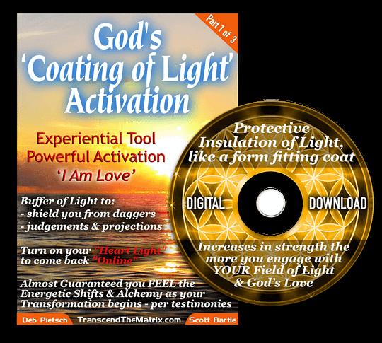 God's Coating of Light Activation - DVD case